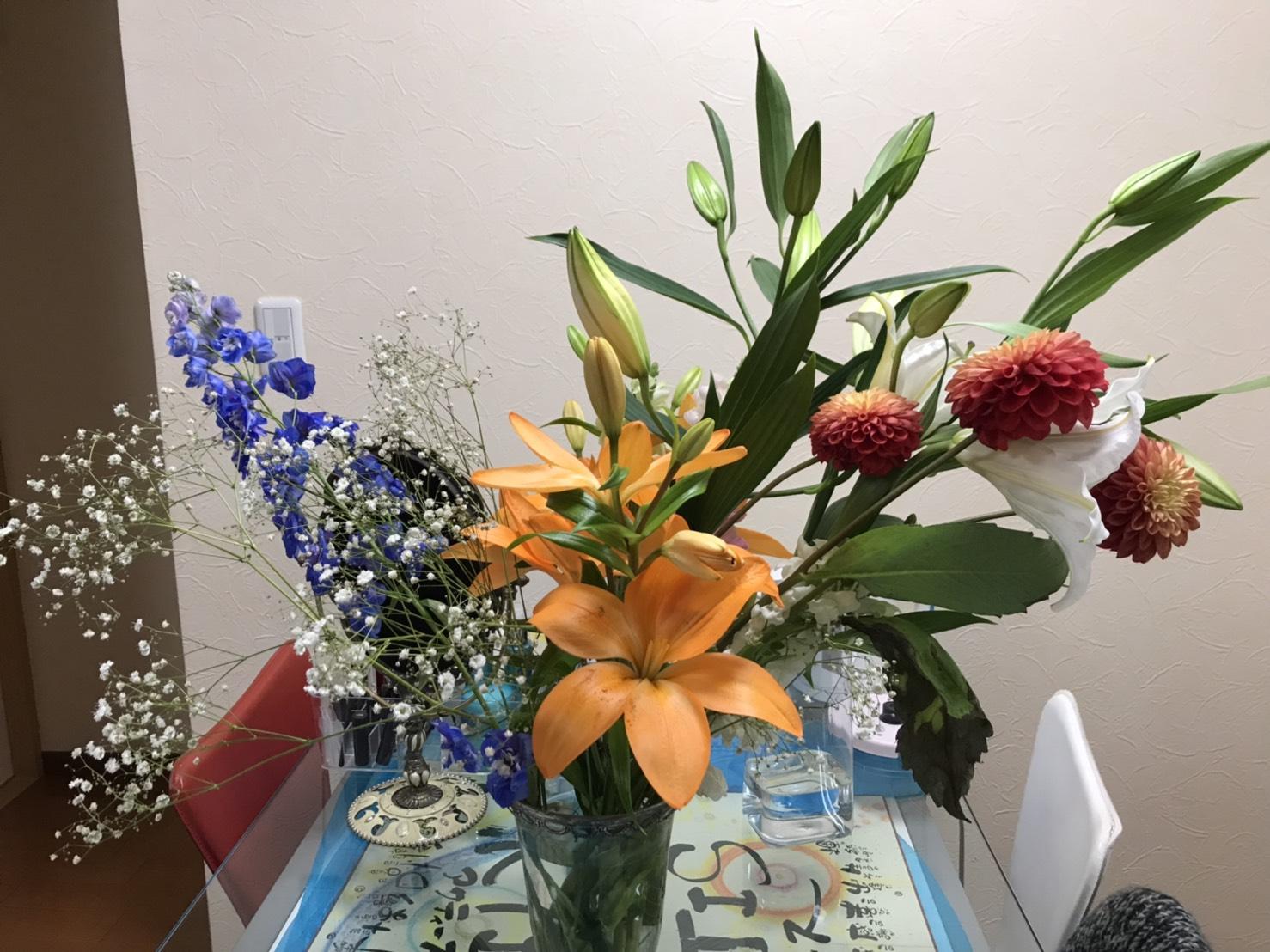 素敵な感想と綺麗なお花を頂戴しました(シン・セシア)