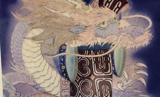 瀬尾立姫と龍の絵(シン・セシア)